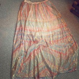 Rainbow gold skirt